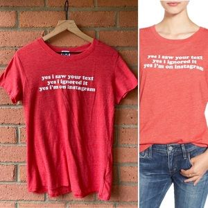 Sub Urban Riot Saw Your Text Instagram Graphic Tee